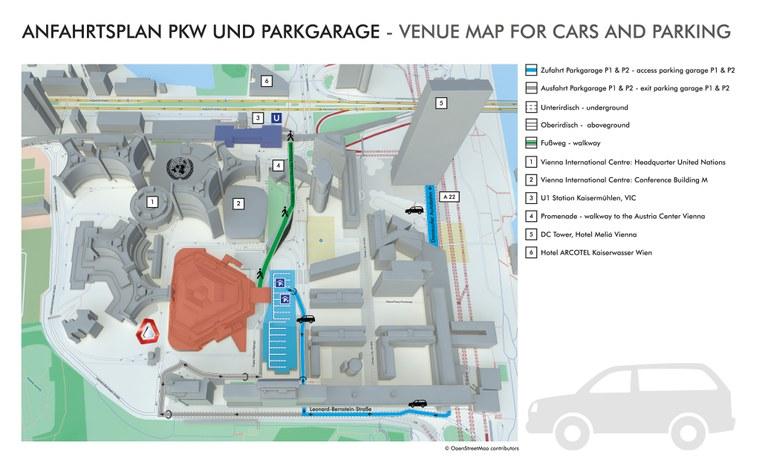Anfahrtsplan PKW und Parkgarage